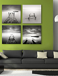 Leinwand Kunst Landschaft Bridge to the Sea Set von 4