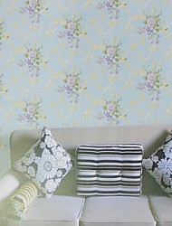 Wall Paper Wallcovering, European Style Watercolor painting PVC Wall Paper