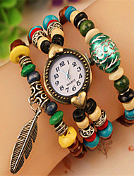 Abby Women's Vintage Colorful Bead Bracelet Watch