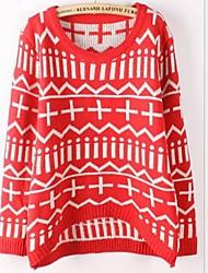 Frauenrundkragen Pullover lange lose Pullover mehr Farben