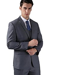Men's Formal Wedding Suit Two Button Dark Gray Slim Casual Men Business Suits Jacket (Coat + Vest + Pants)
