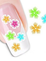 Water Transfer Printing Nail Stickers XF1019