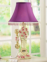 HAOXINYI® Pansy Flower Table Lamp With Telephone Function 1 Light Pastoral Style Resin