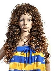 Brown Long Curly Hair Halloween Masquerade Wig
