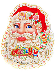 merry christmas 3d su due lati santa claus decorazione adesivo di carta, 43 * 34 * 0,02 centimetri