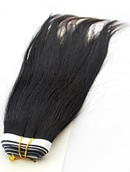 22Inch 5A Grade  Human Hair Tape in Extensions Silky Straight  Natural Black 100gm