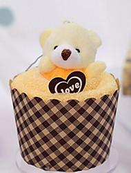 Christmas Gift Cupcake with Bear Shape Towel (Bamboo Fiber,30*30cm)