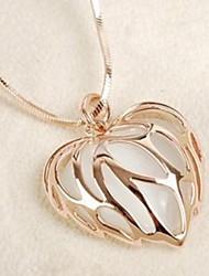 sszp Damenmode diamonade ausschneiden Opal Halskette