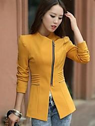 costura chaqueta bodycon prendas de vestir exteriores de las mujeres shashimengna®