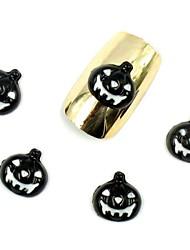 Prego 50pcs 3d halloween desenhos de abóbora preta para pontas das unhas de acrílico decorações da arte do prego