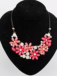 Miss Fashion Fresh Flower Short Type Necklace (Necklace:40cm,Drop:4.5cm)