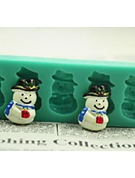 Christmas Snowman Gift Fondant Cake Chocolate Silicone Mold Cake Decoration Tools,L12*W4*H1.3cm