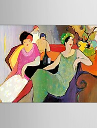 IARTS®Hand Painted Oil Painting People  Modern Fashion Ladies with Stretched Frame