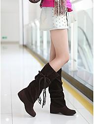 De Loubo vrouwen platte hak halverwege de kuit slouch laarzen