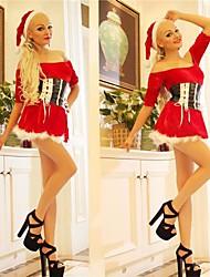 Waist Dress Red Adult Christmas Woman's Costume