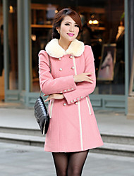 Qingyifang Women's Sheath Wool coat