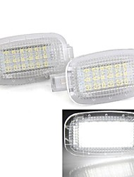 2PCS White 18 LED 3528 SMD Courtesy Door Lights Lamp Bulb for Mercedes Benz W221