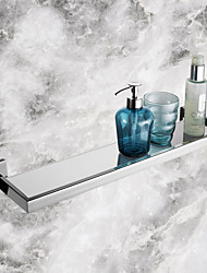 Bathroom Shelf Stainless Steel Wall Mounted 56.7*14.25*5.5cm(22.32*5.61*2.17inch) Stainless Steel / Glass Contemporary