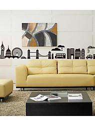 Wall Stickers Wall Decals, City Landscape Home Decoration Poster PVC Wall Stickers