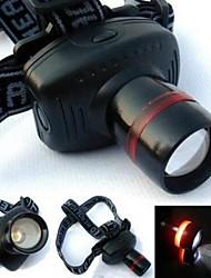 Hoofdlampen 1 Mode Lumens Verstelbare focus AAA Kamperen/wandelen/grotten verkennen / Fietsen / Vissen - Anderen , Zwart Plastic