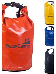 outdoor camping waterdichte drift droog tas met schouderriem 47x21cm 10l (oranje geel blauw zwart)