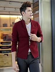 Men's Collar Chinese Tunic Suit Loose Coat