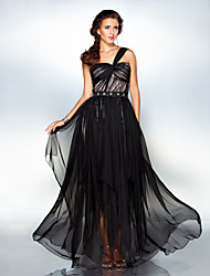 TS Couture® Formal Evening / Military Ball Dress - Vintage Inspired Plus Size / Petite Sheath / Column One Shoulder Floor-length Chiffon with Beading