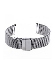 22mm Unisex Mesh Steel Watch Band Strap Bracelet Safety Buckle Silver Hot Cool Watch Unique Watch
