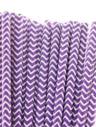 25 PC ecológico pajita púrpura caliente de la venta