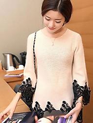 suéter ocasional de las mujeres