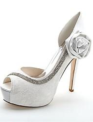 Feminino Wedding Shoes Saltos/Peep Toe/Plataforma Saltos Casamento/Festas & Noite Preto/Azul/Rosa/Marfim/Branco