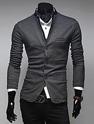 INMUR Men's Collar Single-Breasted Sweater