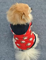 Dog / Cat Hoodie Red Winter Cartoon Wedding / Cosplay