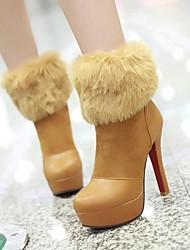 botines de plataforma zapatos de punta redonda stiletto talón de las mujeres con dividir conjuntos más colores disponibles