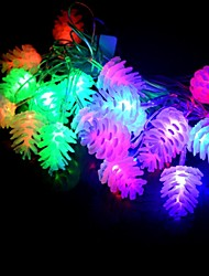 20-LED 4M Waterproof Christmas Decoration Pine cone RGB Light LED String Light (110V)
