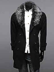 l'automne l'hiver des hommes élevés dans des colliers long double breasted veste manteau.