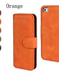 cuero de la PU cubierta de matorral de cuerpo completo con soporte y tarjeta de la ranura para el iphone 4 / 4s (colores surtidos)