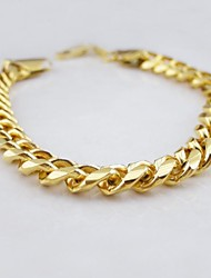 18K Gold Plated Figaro Bracelet Jewelry Christmas Gifts