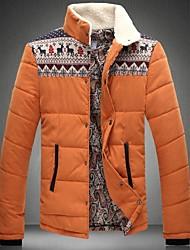 Skymoto® Men's Stand Collar Warm Plus Size Patchwork Cotton Coat