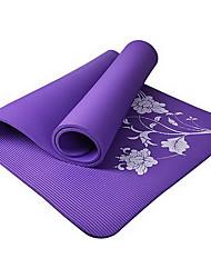 10MM NBR Flower Fitness Yoga Mat