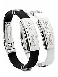 pulseira personalizada moda unissex aço inoxidável pulseiras inspiradoras