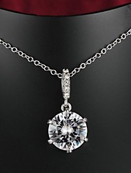 Fabulous Brass Gold Plated With AAAA Zircon Women's Necklace (More Color)Imitation Diamond Birthstone