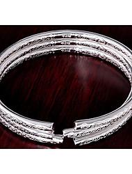 pulsera de plata de las mujeres Weimei elegante brillante delgada