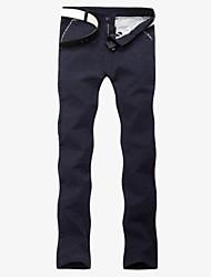 Pure Color occasionnels pantalon long pour hommes