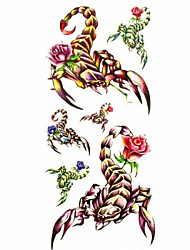 1pc Animal Scorpion Rose Waterproof Tattoo Sample Mold Temporary Tattoos Sticker for Body Art(18.5cm*8.5cm)