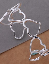 New Fashion Jewelry Women's Hot Heart 925 Sterling Silver Plated Charm Bangle BB-084