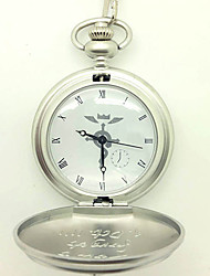 Clock/Watch Inspired by Fullmetal Alchemist Edward Elric Anime Cosplay Accessories Clock/Watch Silver Alloy Male