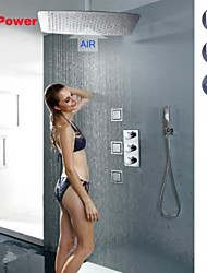 Thermostatic Rain Shower Faucet, UFO Modelling Ultra-thin Air Injection Water Saving Rainfall Shower Head