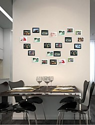 4''*6'' Modern Black White Wall Stickers Collection Picture Frames Photos Set of 6