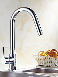 Chrome Finish Pull Down Kitchen Faucet